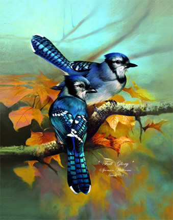 Bird Painting ~ Animal Paintings ~ Wildlife Art ~ Animal Paintings & Animal Artwork~ Paintings of Wildlife ~ Smoky Mountains Tennessee