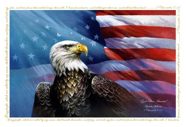god bless america painting, eagle flag, american eagle flag, christian flag, eagle painting