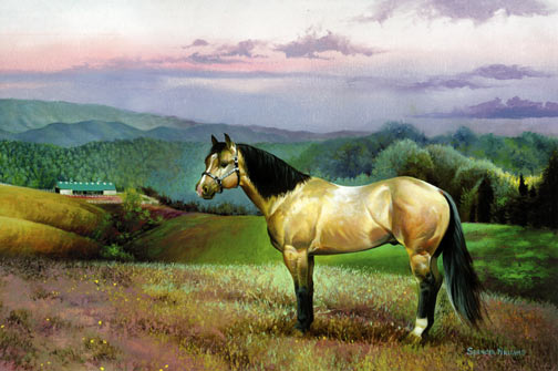 Art~Landscape Paintings, landscape paintings of Cades Cove & Smoky Mountains~landscape painting,landscape artist Spencer Williams